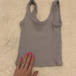 Urban Outfitters Tops - URBAN OUTFITTERS GREY DISTRESSED CROP TANK